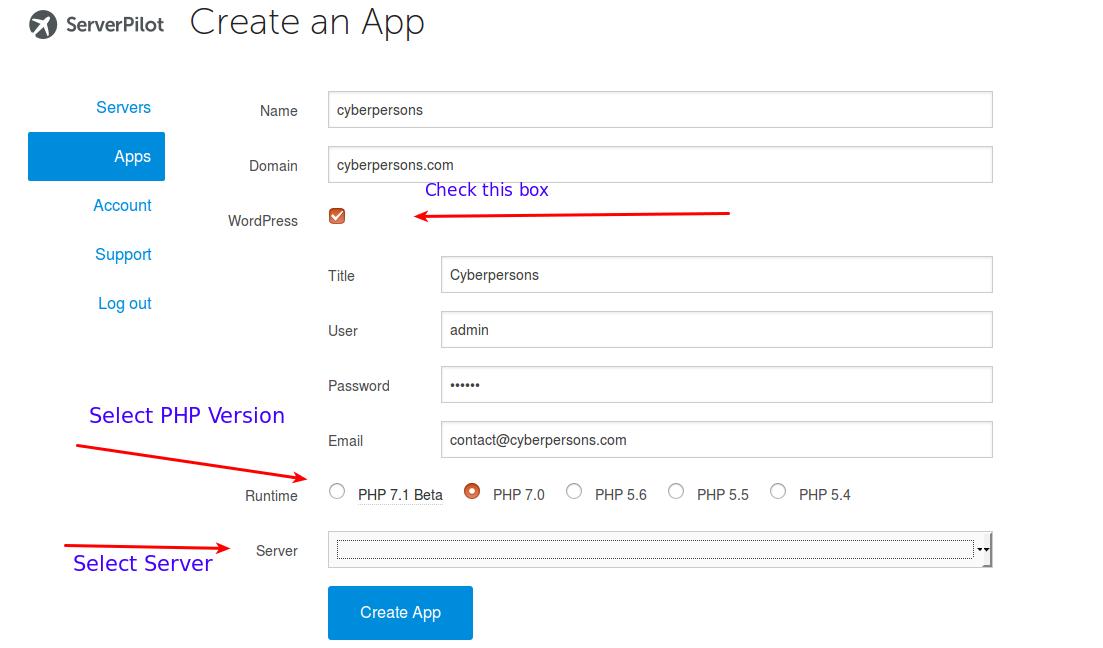fill-app-details-wordpress