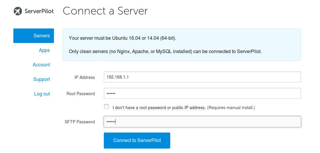 add-server-to-serverpilot