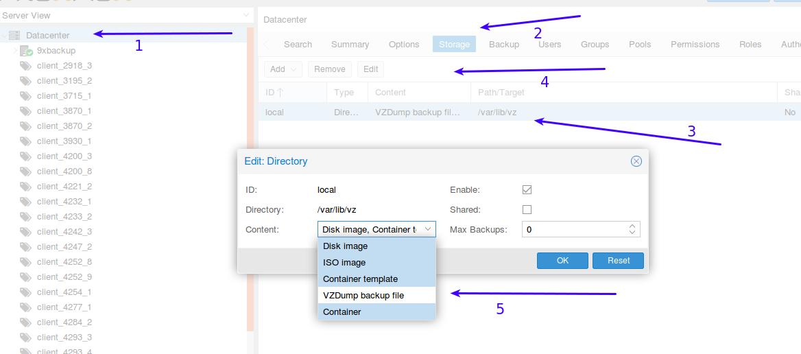 enable-proxmox-to-store-backups