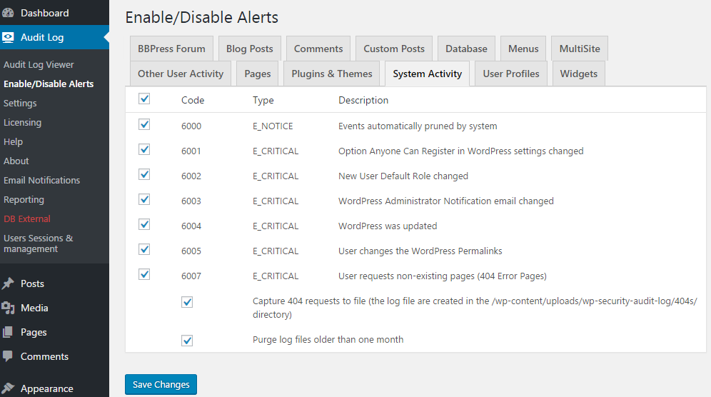 enabled_disable_alerts_wp_security_audit_log