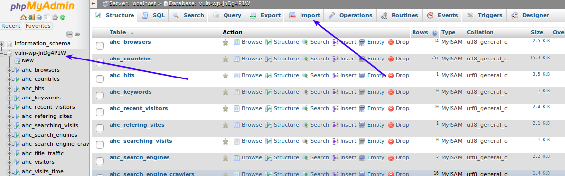 select-and-import-database