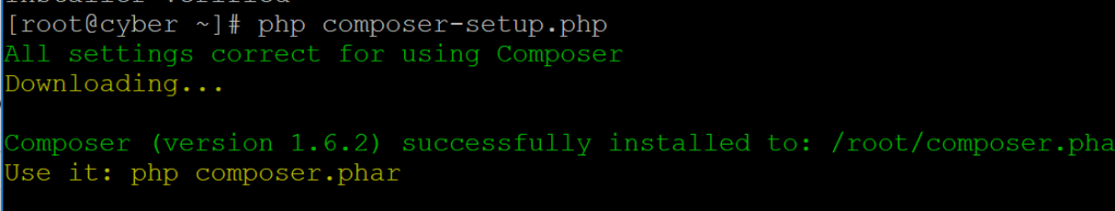 installing composer