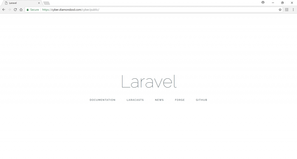 Laravel working