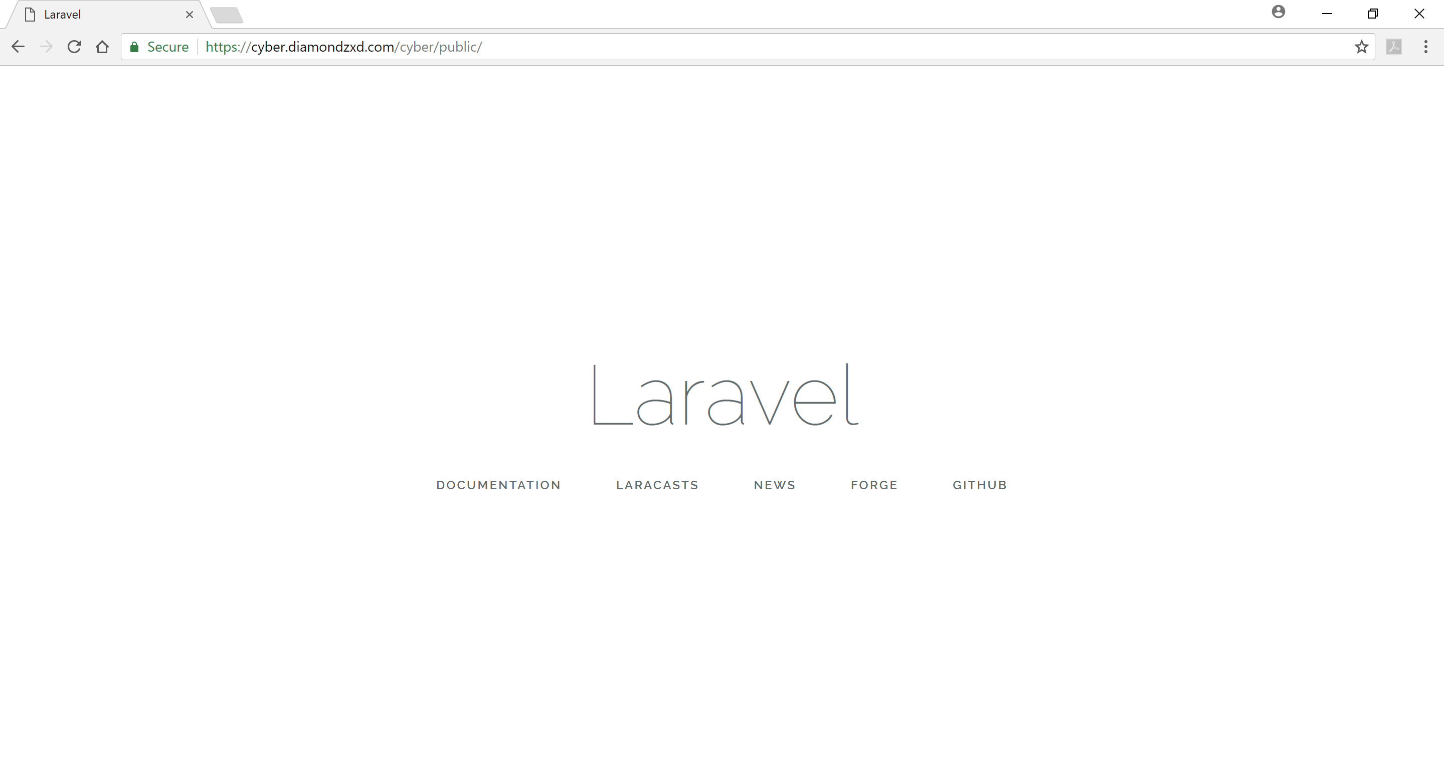 Laravel working